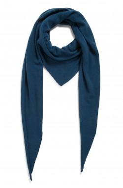 Echarpe cachemire - bleu pétrole - 100% cachemire - 2 fils