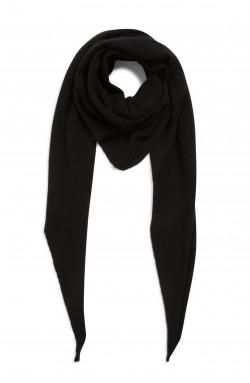 Echarpe cachemire - noir - 100% cachemire - 2 fils